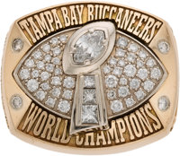 2002 Tampa Bay Buccaneers Super Bowl XXXVII Championship Ring Presented to Stadium Sponsor