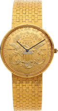 Timepieces:Wristwatch, Corum Twenty Dollar Gold Coin Wristwatch For Repair. ...