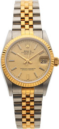 Timepieces:Wristwatch, Rolex, Oyster Perpetual DateJust, 31mm Steel and 18k Gold, Circa 1996. ...