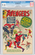Silver Age (1956-1969):Superhero, The Avengers #6 (Marvel, 1964) CGC VF- 7.5 Off-white pages....