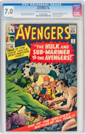 Silver Age (1956-1969):Superhero, The Avengers #3 (Marvel, 1964) CGC FN/VF 7.0 Cream to off-white pages....