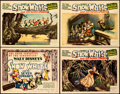"""Movie Posters:Animation, Snow White and the Seven Dwarfs (RKO, 1937). Very Fine-. Title Lobby Card & Lobby Cards (3) (11"""" X 14"""").. ... (Total: 4 Items)"""