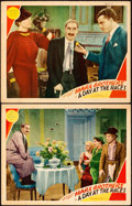 "Movie Posters:Comedy, A Day at the Races (MGM, 1937). Fine/Very Fine. Lobby Cards (2) (11"" X 14""). . ... (Total: 2 Items)"