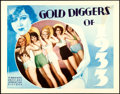 """Movie Posters:Musical, Gold Diggers of 1933 (Warner Bros., 1933). Fine/Very Fine. Lobby Card (11"""" X 14"""").. ..."""