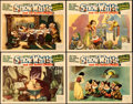 "Movie Posters:Animation, Snow White and the Seven Dwarfs (RKO, 1937). Very Fine-. Lobby Cards (4) (11"" X 14"").. ... (Total: 4 Items)"