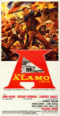 "Movie Posters:Western, The Alamo (United Artists, 1960). Folded, Very Fine+. Three Sheet (41"" X 79.25"") Todd-AO Style. Reynold Brown Artwork.. ..."