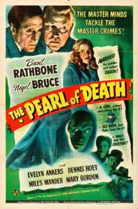"""The Pearl of Death (Universal, 1944). Folded, Fine/Very Fine. One Sheet (27"""" X 41"""")"""