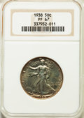 1938 50C PR67 NGC. NGC Census: (273/47). PCGS Population: (260/20). CDN: $775 Whsle. Bid for problem-free NGC/PCGS PR67...