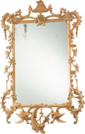 Furniture , A Rococo Revival Carved Hardwood Mirror, circa 1850. 46 x 29 inches (116.8 x 73.7 cm). ...