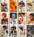 """Football Collectibles:Others, 1998 Football Hall of Fame """"Ron Mix"""" Signed Cards Set of 116. ..."""