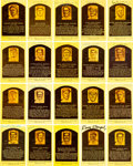 Autographs:Post Cards, Baseball Hall of Fame Signed Plaque Postcard Lot of 62....
