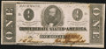 Confederate Notes:1862 Issues, T55 $1 1862 PF-7 Cr. 398 Very Fine-Extremely Fine.. ...