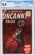 Silver Age (1956-1969):Horror, Uncanny Tales #45 (Atlas, 1956) CGC VG 4.0 Off-white pages....
