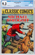 Golden Age (1938-1955):Adventure, Classic Comics #28 Michael Strogoff - First Edition (Gilberton, 1946) CGC NM- 9.2 Off-white to white pages....