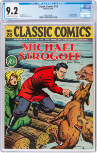 Classic Comics #28 Michael Strogoff - First Edition (Gilberton, 1946) CGC NM- 9.2 Off-white to white pages