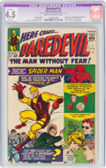 Silver Age (1956-1969):Superhero, Daredevil #1 (Marvel, 1964) CGC Apparent VG+ 4.5 Slight (A) Cream to off-white pages....