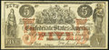 Confederate Notes:1861 Issues, CT31/245D-1 $5 1861 Fine-Very Fine.. ...