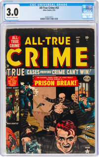 All-True Crime #52 (Atlas, 1952) CGC GD/VG 3.0 Off-white to white pages