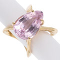 Estate Jewelry:Rings, Kunzite, Gold Ring. ...