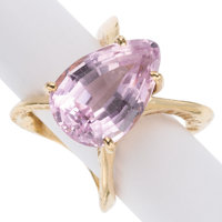 Kunzite, Gold Ring