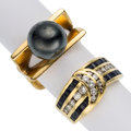 Estate Jewelry:Rings, Diamond, Sapphire, Gold, Metal Rings. ...