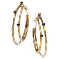 Estate Jewelry:Earrings, Sapphire, Diamond, Gold Earrings, Tiffany & Co.. ...