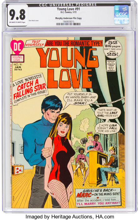 Young Love #91 Murphy Anderson File Copy (DC, 1972) CGC NM/MT 9.8 Off-white to white pages....