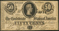 Confederate Notes:1864 Issues, T72 50 Cents 1864 PF-1 Cr. 578 Crisp Uncirculated.. ...