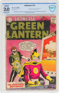 Showcase #23 Green Lantern (DC, 1959) CBCS Restored GD 2.0 (Slight Amateur) Cream to off-white pages