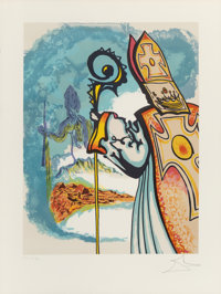Salvador Dalí (1904-1989) King Richard, from Ivanhoe, 1977 Lithograph in colors on Arches