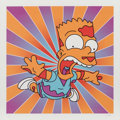 Fine Art - Work on Paper:Print, Jack Vitaly (20th century). Scared Bart-Sunburst, n.d.. Digital print in colors on smooth wove paper. 18 x 18 inches (45...