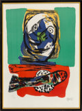 Fine Art - Work on Paper:Print, Karel Appel (1921-2006). Head and Fish, 1966. Lithograph in colors on wove paper. 29-1/2 x 21-1/2 inches (74.9 x 54.6 cm...