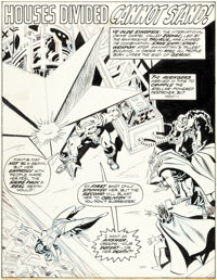 John Buscema and Don Heck The Avengers #121 Splash Page 1 Iron Man, Thor, Scarlet Witch Original Art (Marvel, 1974