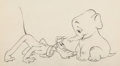 Animation Art:Production Drawing, Pluto's White Elephant Pluto and Bobo Animation Drawing (Walt Disney, 1948). ...