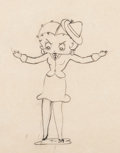 Animation Art:Production Drawing, Judge for a Day Betty Boop Animation Drawing (Max Fleischer, 1935). ...
