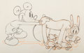 Animation Art:Production Drawing, Society Dog Show Mickey Mouse and Pluto Animation Drawing (Walt Disney, 1939). ...