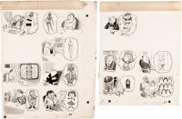 "Jack Rickard MAD Magazine #71 Complete 2-Page Story ""Dream Girls"" Original Art (EC, 1962). ... (Total: 2 Origi..."
