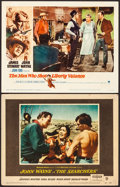 "Movie Posters:Western, The Searchers & Other Lot (Warner Brothers, 1956). Fine/Very Fine. Lobby Cards (2) (11"" X 14""). Western.. ... (Tota..."