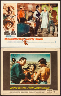 """The Searchers & Other Lot (Warner Brothers, 1956). Fine/Very Fine. Lobby Cards (2) (11"""" X 14""""). Western..."""