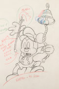 Animation Art:Production Drawing, Tugboat Mickey Mickey Mouse Animation Drawing (Walt Disney, 1940). ...