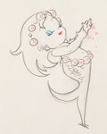 Animation Art:Production Drawing, Merbabies Animation Drawing (Walt Disney, 1938). ...