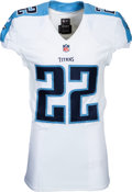 Football Collectibles:Uniforms, 2016 Derrick Henry Game Issued Tennessee Titans Rookie Jersey....
