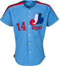 Baseball Collectibles:Uniforms, 1984 Pete Rose Game Worn & Signed Montreal Expos Jersey. ...