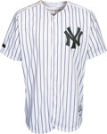 Baseball Collectibles:Uniforms, 2017 Gary Sanchez Memorial Day Weekend Game Worn New York Yankees Jersey Photo Matched to May 28 vs. Oakland with Steiner Lett...