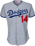 Baseball Collectibles:Uniforms, 1988 Mike Scioscia Game Worn Los Angeles Dodgers Jersey. ...