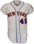 Baseball Collectibles:Uniforms, 1966 Tug McGraw Game Worn New York Mets Jersey, MEARS A6....