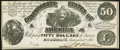 Confederate Notes:1861 Issues, T14 $50 1861 PF-8 Cr. 77 About Uncirculated.. ...
