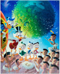 Memorabilia:Disney, Carl Barks An Astronomical Predicament Signed Limited Edition Lithograph Print #221/345 (Another Rainbow, 1990). ...