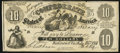 Confederate Notes:1861 Issues, CT10/39 Counterfeit $10 1861 Fine-Very Fine.. ...