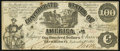 Confederate Notes:1861 Issues, CT13/56-2 Counterfeit $100 1861 Bogus Back Very Fine.. ...